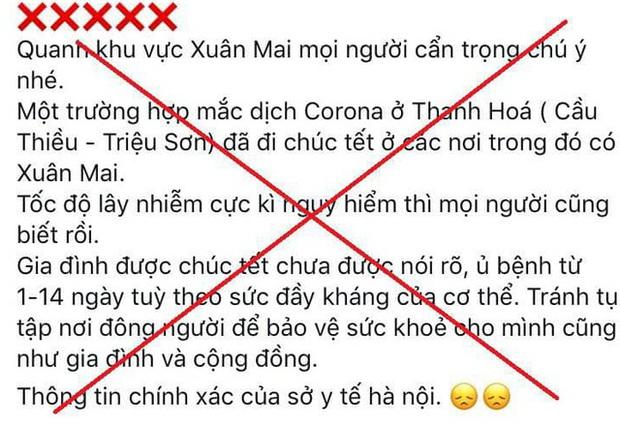 Đăng tin thất thiệt về dịch virus Corona, thanh niên ở Hà Nội bị phạt 10 triệu đồng - Ảnh 1.