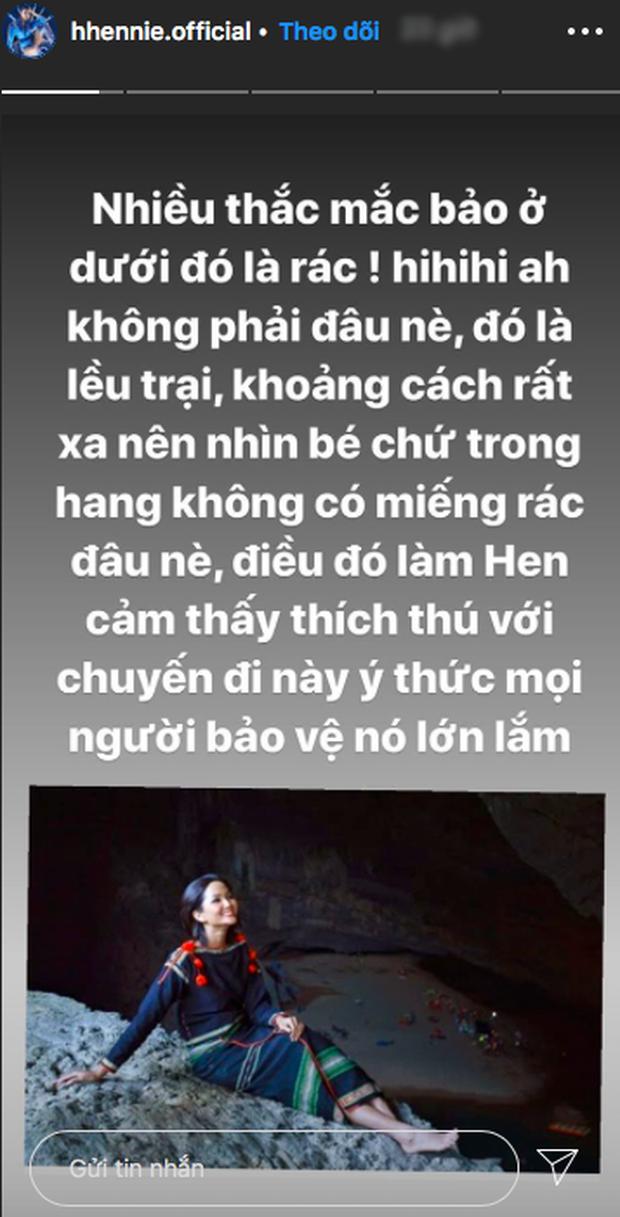 Bị nghi chụp ảnh trong hang Sơn Đoòng khi đang có rác thải bừa bãi xung quanh, H'Hen Niê chính thức lên tiếng - Ảnh 9.