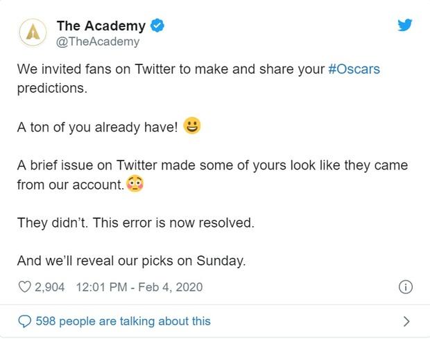 Viện hàn lâm Mỹ nhận no gạch từ netizen vì đăng dự đoán Oscar 2020: Parasite thắng Phim hay nhất - Ảnh 3.