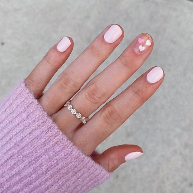 Gợi ý 14 bộ nail xinh hết cỡ cho dịp Valentine các nàng nên lưu lại để triển dần - Ảnh 1.