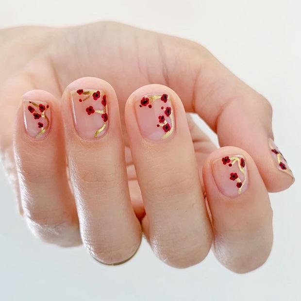 Gợi ý 14 bộ nail xinh hết cỡ cho dịp Valentine các nàng nên lưu lại để triển dần - Ảnh 3.