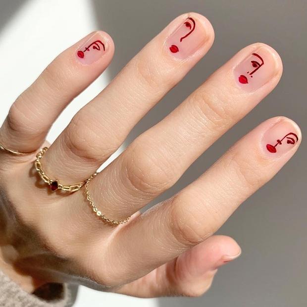 Gợi ý 14 bộ nail xinh hết cỡ cho dịp Valentine các nàng nên lưu lại để triển dần - Ảnh 4.