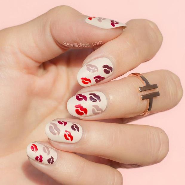 Gợi ý 14 bộ nail xinh hết cỡ cho dịp Valentine các nàng nên lưu lại để triển dần - Ảnh 5.
