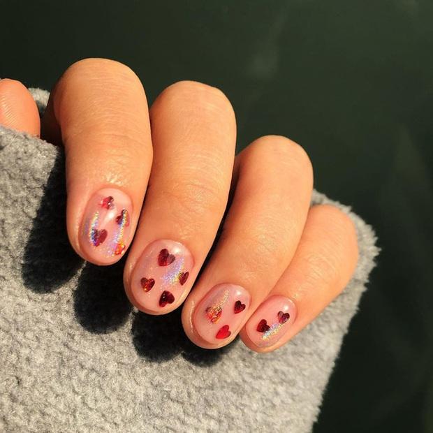 Gợi ý 14 bộ nail xinh hết cỡ cho dịp Valentine các nàng nên lưu lại để triển dần - Ảnh 9.