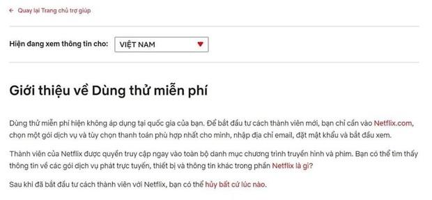 Rộ tin Netflix Việt Nam hủy cho phép dùng thử miễn phí 1 tháng, phải chăng do thói khôn vặt của người Việt? - Ảnh 1.