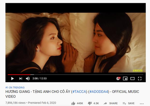 Sau hơn 24h, Apinya đã kịp cho Hân ăn tát gần 8 triệu lần, Hương Giang bám sát thành tích khủng của Jack và K-ICM về lượt view 24h đầu! - Ảnh 1.
