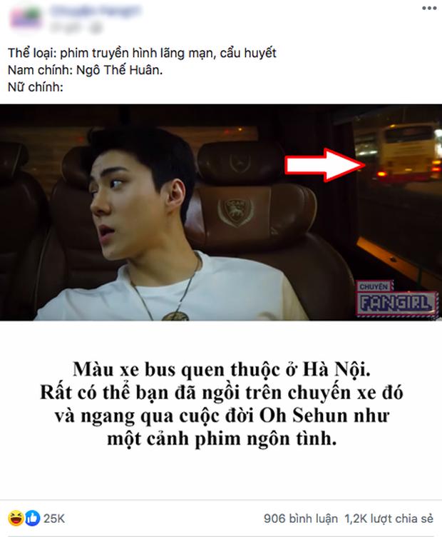 """Chỉ một giây xe buýt """"huyền thoại"""" lướt qua xe của Oh Sehun (EXO) hồi sang Việt Nam, hội fan girl đã nghĩ ra 1001 câu chuyện ngôn tình cẩu huyết - Ảnh 5."""