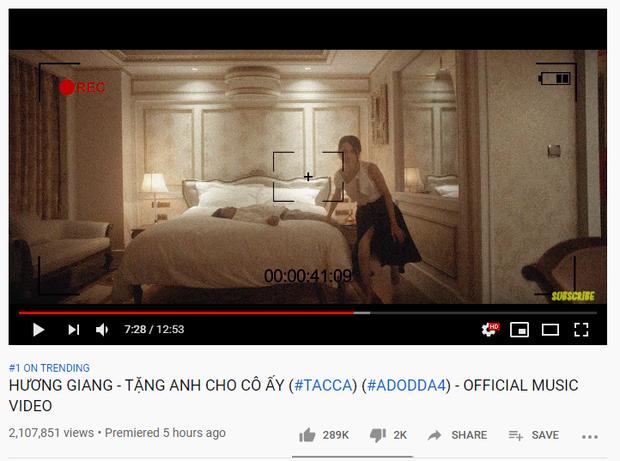 #ADODDA 4 của Hương Giang một phát lên luôn top 1 trending chỉ sau 5 giờ, vượt Sơn Tùng đứng nhất Vpop mảng MV nhưng vẫn thua Jack! - Ảnh 1.