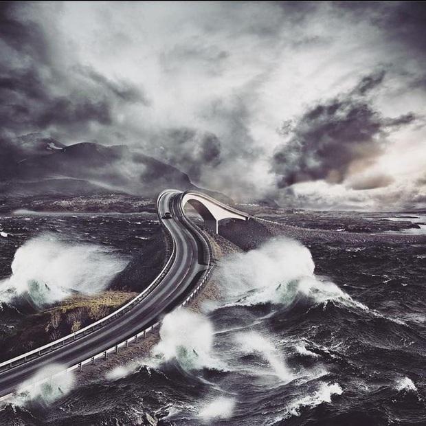"""Chiêm ngưỡng cung đường vượt biển """"huyền thoại"""" đẹp nhất hành tinh ở Na Uy, ước mơ trong đời của biết bao phượt thủ thế giới - Ảnh 3."""
