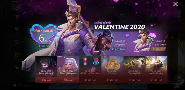 Liên Quân Mobile: Garena tặng miễn phí 5 tướng cùng skin Ryoma Dạ Hội nhân dịp Valentine, game thủ lưu ý để nhận! - Ảnh 3.