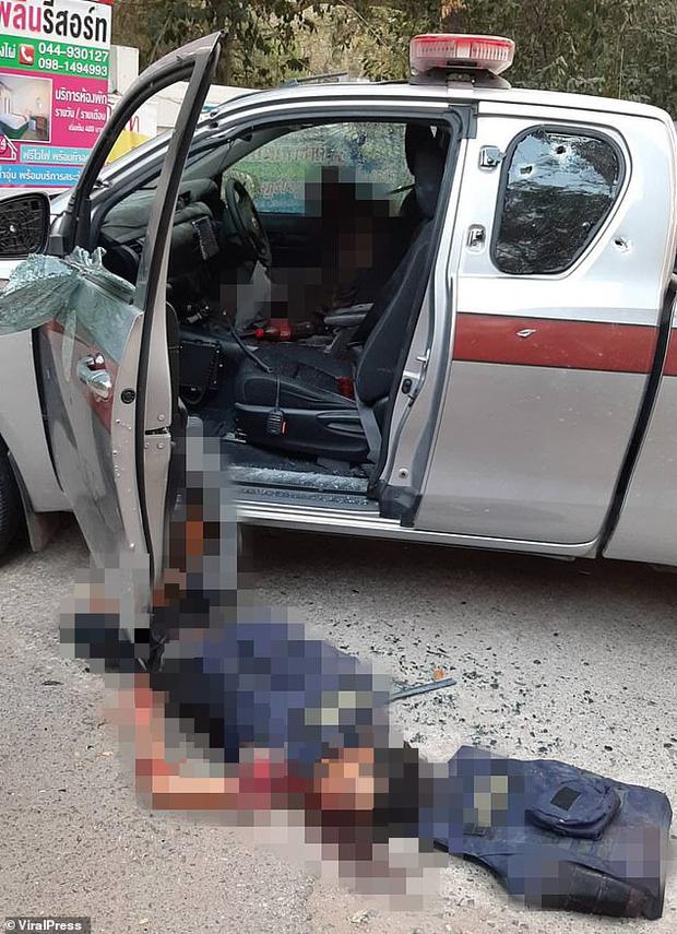 Những hình ảnh đầu tiên về vụ xả súng kinh hoàng tại Thái Lan - Ảnh 5.