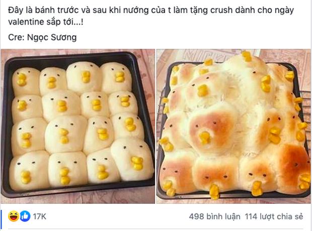 """Nướng bánh tặng crush nhân ngày Valentine, cô gái khiến cả Facebook """"cười rớt răng"""" với thành phẩm như muốn… kết thúc luôn mối quan hệ - Ảnh 1."""