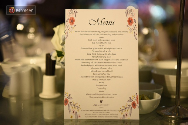 Lộ diện thực đơn tiệc cưới Duy Mạnh - Quỳnh Anh tại khách sạn JW Marriott với toàn món đắt tiền hơn hẳn - Ảnh 3.