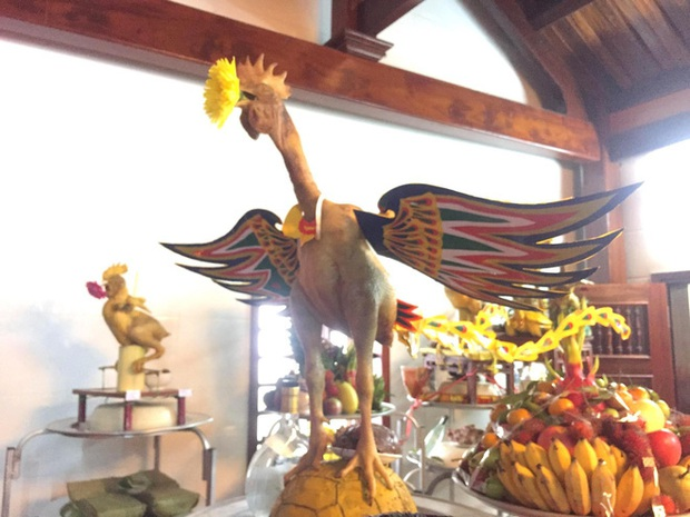 Ngắm những thế gà múa trên mâm cỗ ngày rằm tháng giêng ở Hà Tĩnh - Ảnh 10.