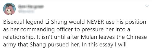 MXH nổi điên vì người yêu Mulan bị bay màu, Disney bị ném đá vì kỳ thị LGBT trong khi lấy cớ phong trào #MeToo ra biện hộ? - Ảnh 6.
