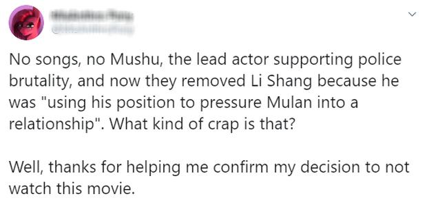 MXH nổi điên vì người yêu Mulan bị bay màu, Disney bị ném đá vì kỳ thị LGBT trong khi lấy cớ phong trào #MeToo ra biện hộ? - Ảnh 7.