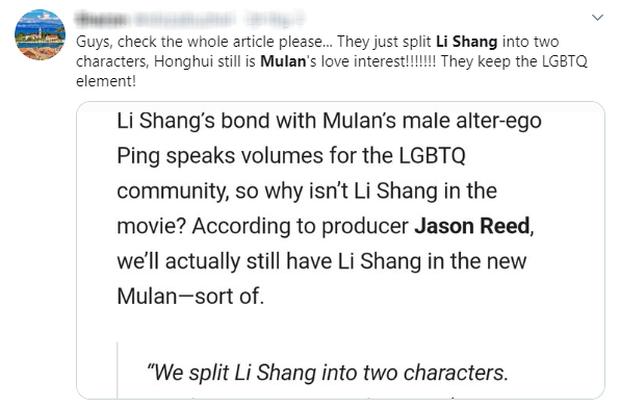 MXH nổi điên vì người yêu Mulan bị bay màu, Disney bị ném đá vì kỳ thị LGBT trong khi lấy cớ phong trào #MeToo ra biện hộ? - Ảnh 9.