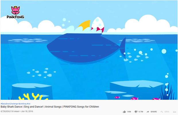 MV quốc dân cho trẻ em ăn bột vượt mặt Shape of You, chiếm trọn Top 2 thế giới về view YouTube - Ảnh 1.