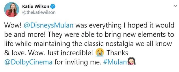 Mulan suất chiếu đầu tiên nhận cơn mưa lời khen, được chọn là bản live-action hay nhất của Disney, nhạc phim xuất sắc - Ảnh 7.