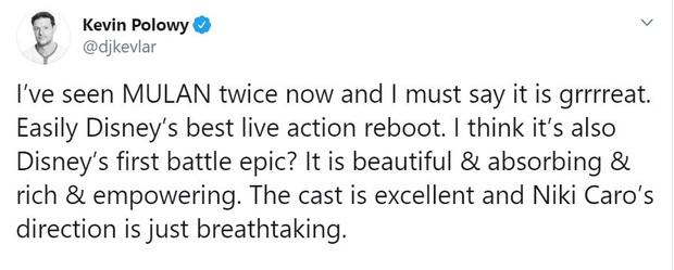 Mulan suất chiếu đầu tiên nhận cơn mưa lời khen, được chọn là bản live-action hay nhất của Disney, nhạc phim xuất sắc - Ảnh 8.