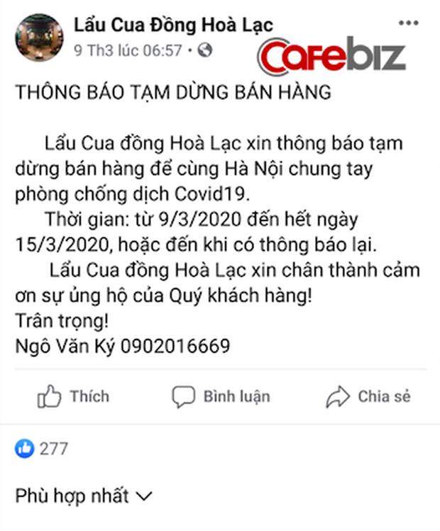 Nhà hàng lẩu cua nức tiếng Hà Nội xin phép đóng cửa phòng dịch vì... quá đông khách, mỗi ngày tiếp đón hơn 1.000 lượt khách - Ảnh 1.