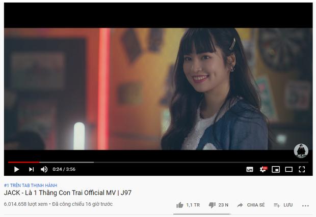 MV comeback cán mốc 1 triệu likes chỉ sau 16 tiếng: Jack đi trước Sơn Tùng M-TP 2 bước, kéo dài chuỗi thành tích lịch sử Vpop! - Ảnh 1.