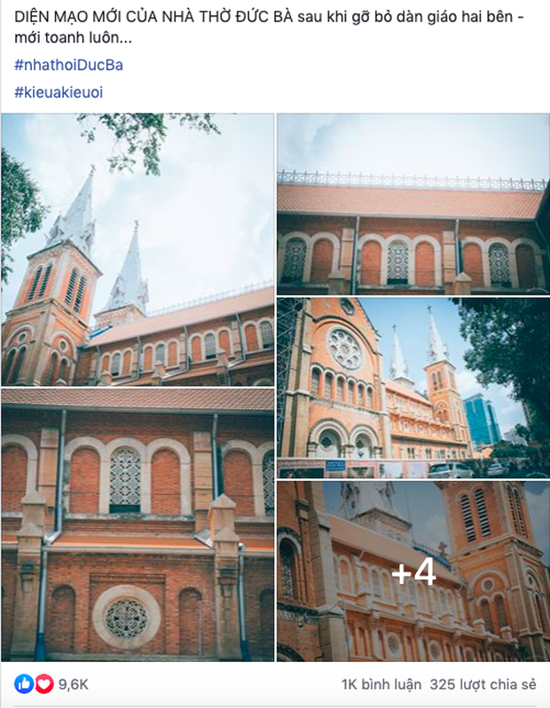 Cập nhật nhanh diện mạo mới nhất của Nhà thờ Đức Bà Sài Gòn sau bước đầu trùng tu, những mảng tường bị vẽ bậy giờ đã biến mất - Ảnh 8.