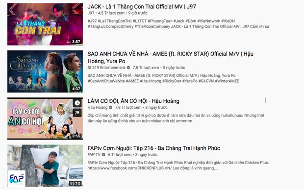 MV comeback của Jack cán mốc top 1 trending sau 9 giờ lên sóng, bất chấp Hậu Hoàng lên như diều gặp gió, lật đổ AMEE vững vàng suốt 4 ngày - Ảnh 6.