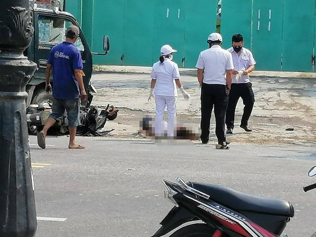 Nữ tài xế lái xe tải va chạm với xe máy, 1 cô gái tử vong thương tâm - Ảnh 1.