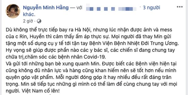 Ca sĩ Min là nghệ sĩ Việt tiếp theo đóng góp 10.000 khẩu trang và 500 chai nước rửa tay hỗ trợ chống dịch Covid-19 - Ảnh 3.