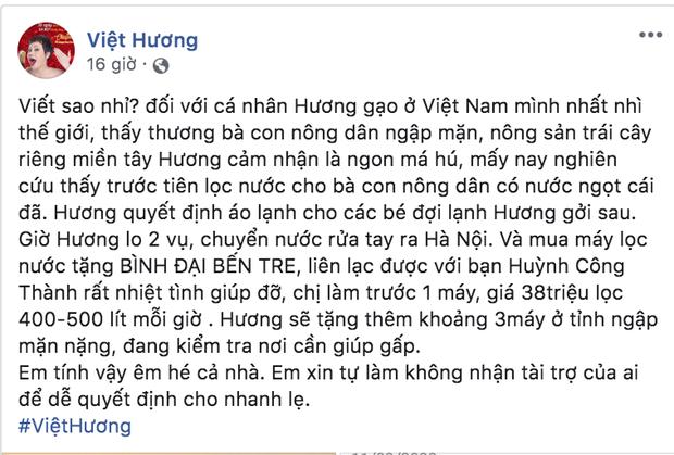 Phi Nhung quyên góp 100 triệu, Việt Hương gây chú ý với loạt động thái hỗ trợ miền Tây chống hạn, mặn và dịch Covid-19 - Ảnh 4.