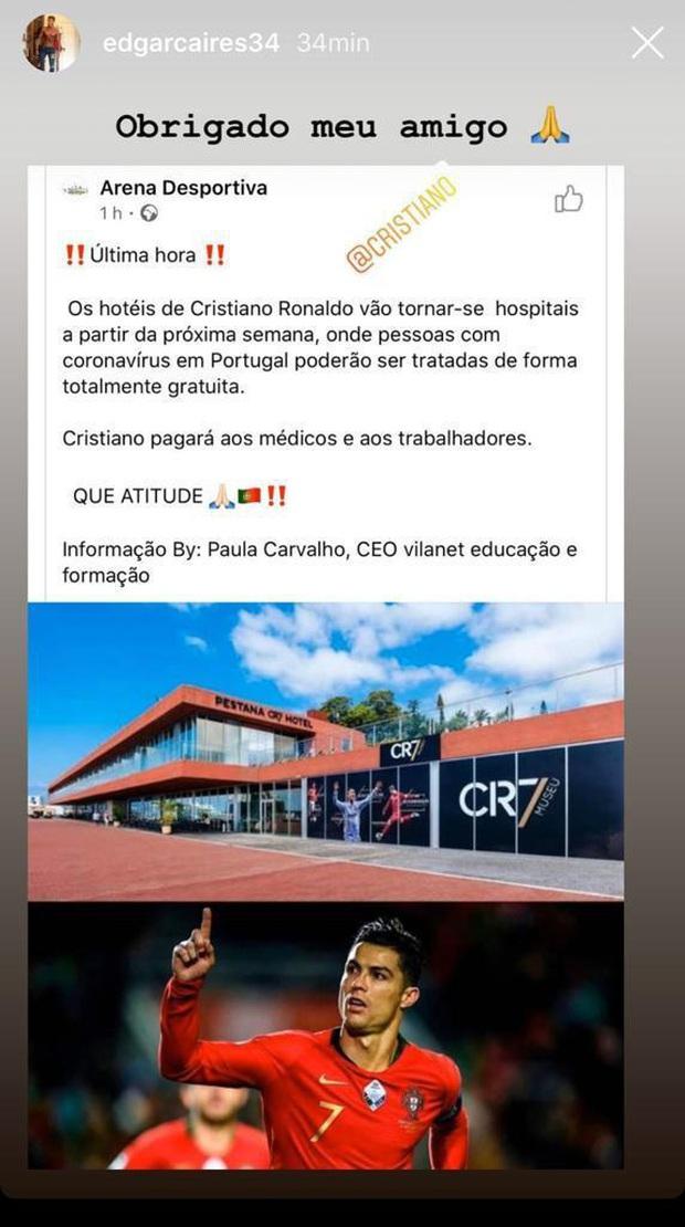 ĐỘC QUYỀN: Nhân viên của Ronaldo xác nhận KHÔNG CÓ CHUYỆN khách sạn CR7 được dùng làm bệnh viện phục vụ bệnh nhân nhiễm Covid-19 - Ảnh 1.
