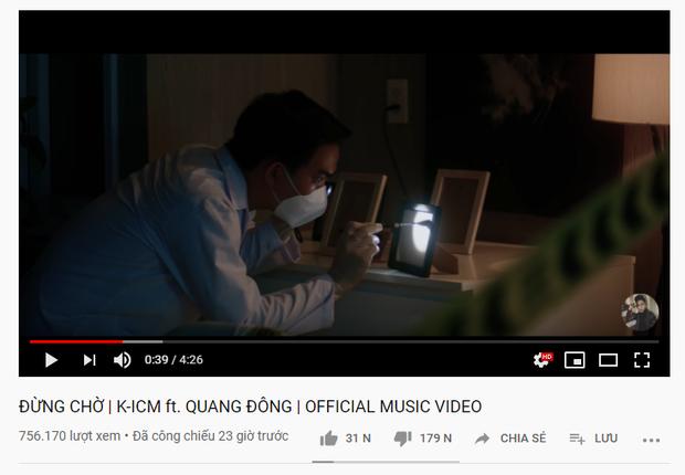 Cú thụt lùi nghiêm trọng của K-ICM: Đừng Chờ sau 1 ngày vẫn chưa đạt nổi 1 triệu view, thành tích kém quá xa Jack! - Ảnh 1.