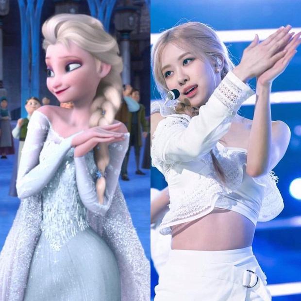 Tóc vàng xinh đẹp như tiên tử, chẳng trách Rosé cân hết cả dàn công chúa Disney khiến ai ngắm cũng mê - Ảnh 1.