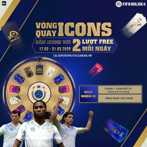 FIFA Online 4: Game thủ háo hức với sự kiện săn ICONS miễn phí mỗi ngày được áp dụng trên cả FO4 Mobile! - Ảnh 1.