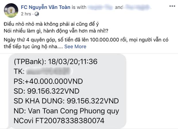 Công Phượng âm thầm quyên góp, dàn sao tuyển Việt Nam tạo làn sóng đẩy lùi dịch Covid-19 - Ảnh 1.