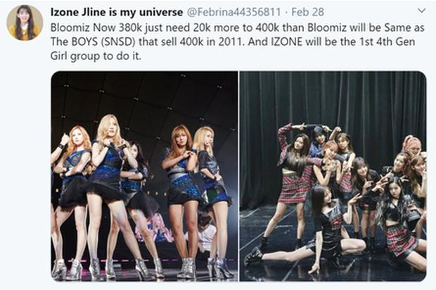 IZ*ONE sau 2 tuần comeback: phá kỷ lục 1 tuần của TWICE sau... 1 ngày, sánh ngang cùng BTS, EXO, tiến gần tới cột mốc khủng của SNSD - Ảnh 8.