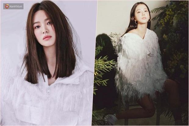 Thật cân não khi Song Hye Kyo - Jisoo đụng hàng: Tường thành nhan sắc kín như bưng, idol trẻ buông lơi lả lướt quá - Ảnh 7.