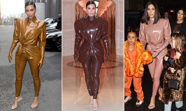 Kim Kardashian diện đồ o ép đến khó thở là thường, nhưng khi cô thay liền 3 bộ một ngày thì ai cũng phải… bái phục - Ảnh 1.