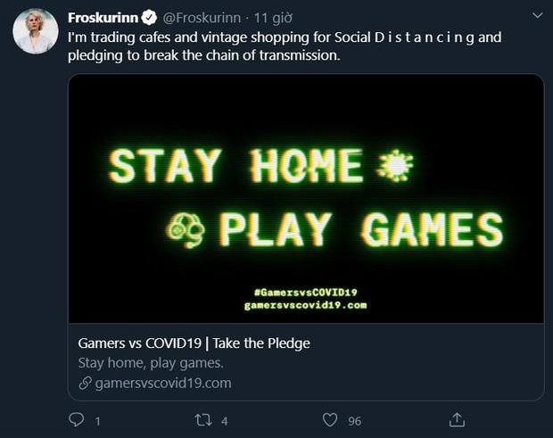 Cộng đồng game thủ thế giới phát động chiến dịch Stay home play game - Ở nhà chơi game, cùng nhau đẩy lùi dịch Covid-19 - Ảnh 4.
