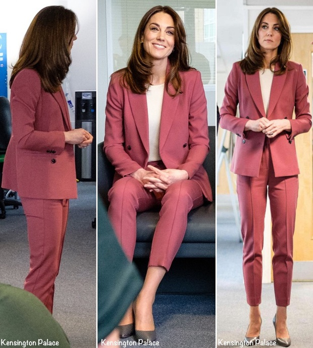 Lần đầu tiên Công nương Kate diện nguyên bộ suit, là học phá vỡ quy tắc Hoàng gia từ em dâu Meghan? - Ảnh 2.
