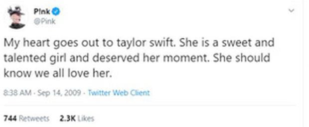 Netizen đồng loạt bảo vệ Taylor Swift sau khi Kanye West bị vạch mặt, lời của P!nk 11 năm trước được đào lại: Kanye West là kẻ tồi tệ nhất trái đất này - Ảnh 8.