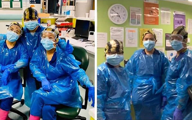 Bệnh viện London thất thủ vì Covid-19, y tá kiệt sức trùm túi rác làm việc do đồ bảo hộ thiếu trầm trọng - Ảnh 1.