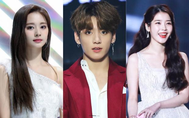 Các công ty giải trí chọn ra idol xuất sắc nhất Kpop hiện tại: BTS và TWICE dẫn đầu mảng nhóm, IU thống trị mảng solo, ITZY chắc suất tân binh khủng long - Ảnh 1.