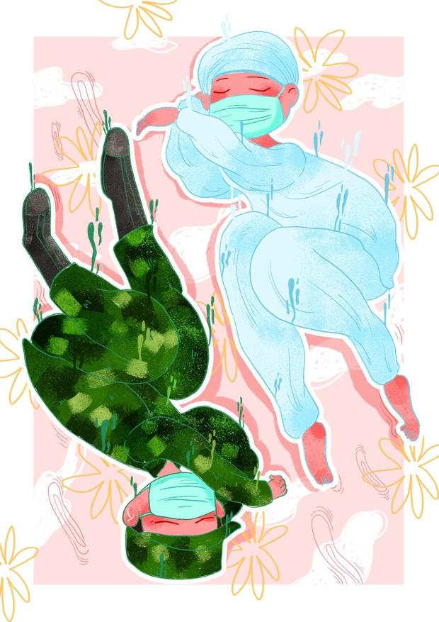 Cưng xỉu trước loạt tranh tri ân các chiến sĩ tuyến đầu chống dịch Covid-19: Cảm ơn mọi người, cảm ơn Việt Nam! - Ảnh 11.