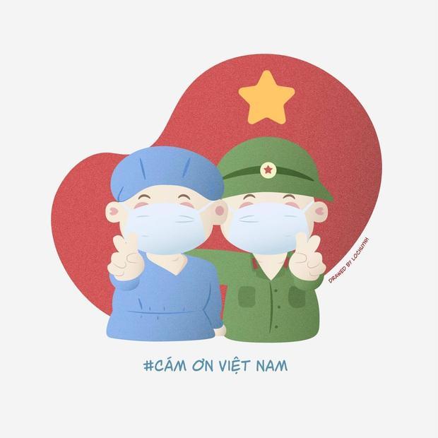 Cưng xỉu trước loạt tranh tri ân các chiến sĩ tuyến đầu chống dịch Covid-19: Cảm ơn mọi người, cảm ơn Việt Nam! - Ảnh 19.