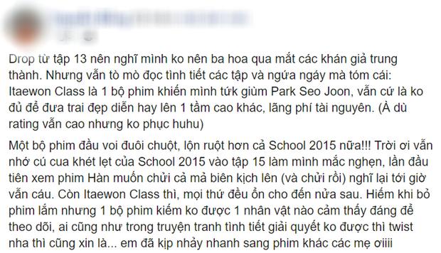 Khán giả Tầng Lớp Itaewon la ó vì kịch bản phim đầy lỗ hổng, phí cả tài nguyên diễn xuất của Park Seo Joon - Ảnh 4.