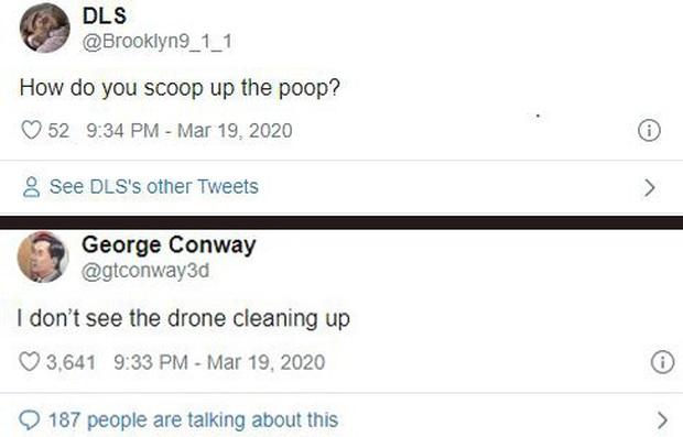 Dắt chó trong mùa dịch Covid-19 theo cách không tưởng: Dùng drone bao xịn bao ngầu! - Ảnh 3.