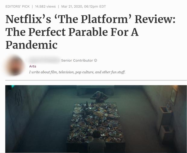 Hàng loạt cây viết uy tín quốc tế khen hết lời The Platform - phim kinh dị vừa ra mắt đã lọt top 3 Netflix Việt Nam - Ảnh 3.