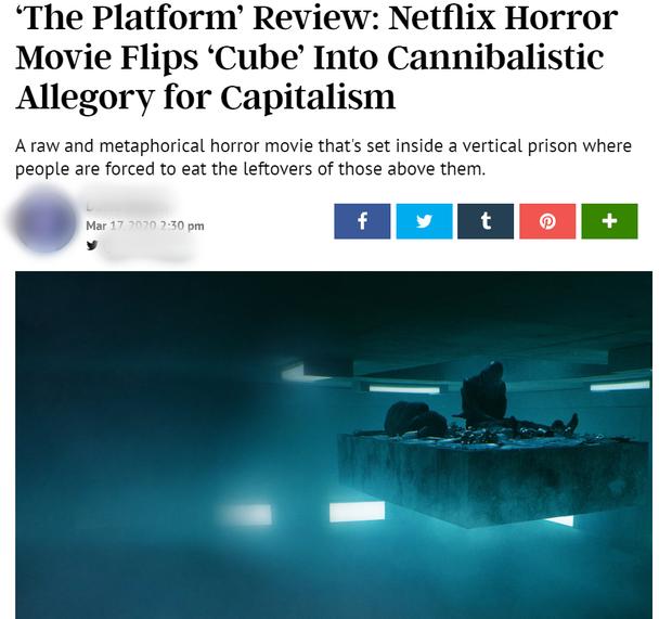 Hàng loạt cây viết uy tín quốc tế khen hết lời The Platform - phim kinh dị vừa ra mắt đã lọt top 3 Netflix Việt Nam - Ảnh 6.